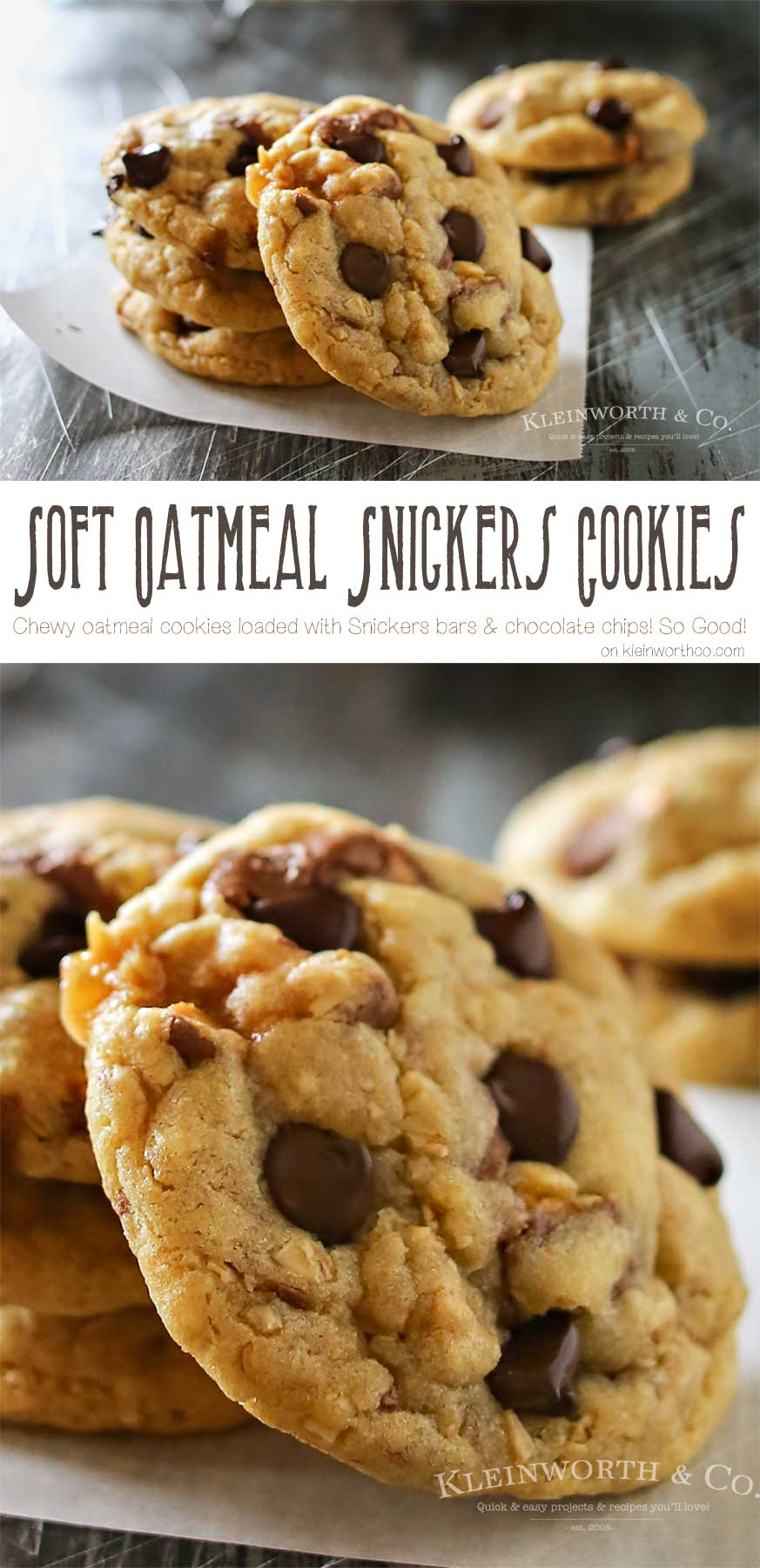 Soft Oatmeal Snickers Cookies - how to make