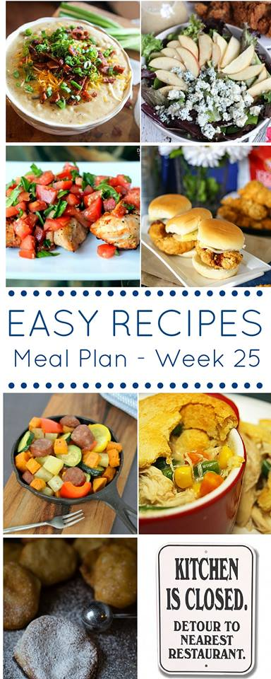 Easy Dinner Recipes Meal Plan Week 25
