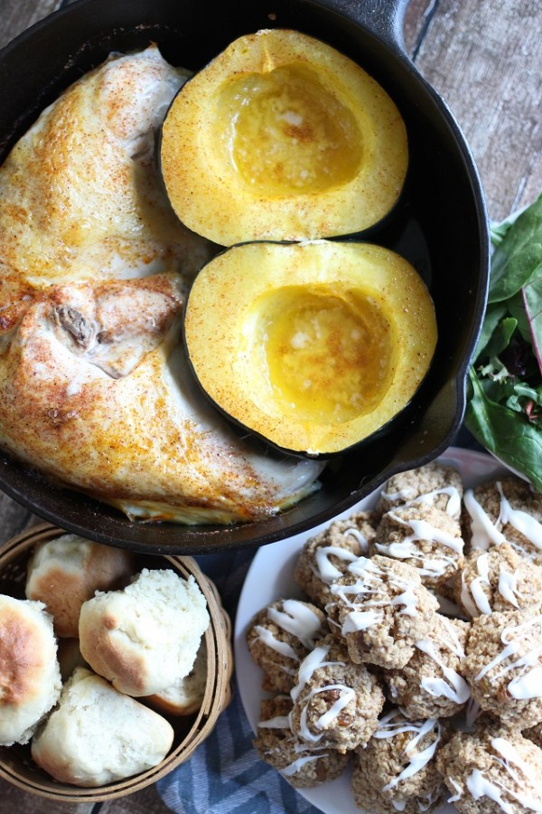 one-pot-roast-chicken-and-acorn-squash