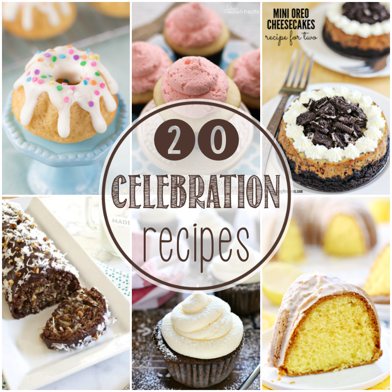 Looking for great recipes for holidays, parties & birthdays? With these 20 Recipes Perfect for Celebrations you will be set to wow your crowd & party on! Cakes, punch, Italian soda, brownies, Yummy Bar Recipes, puddings & more. It's all here & it's all AMAZINGLY DELICIOUS! Check it out!