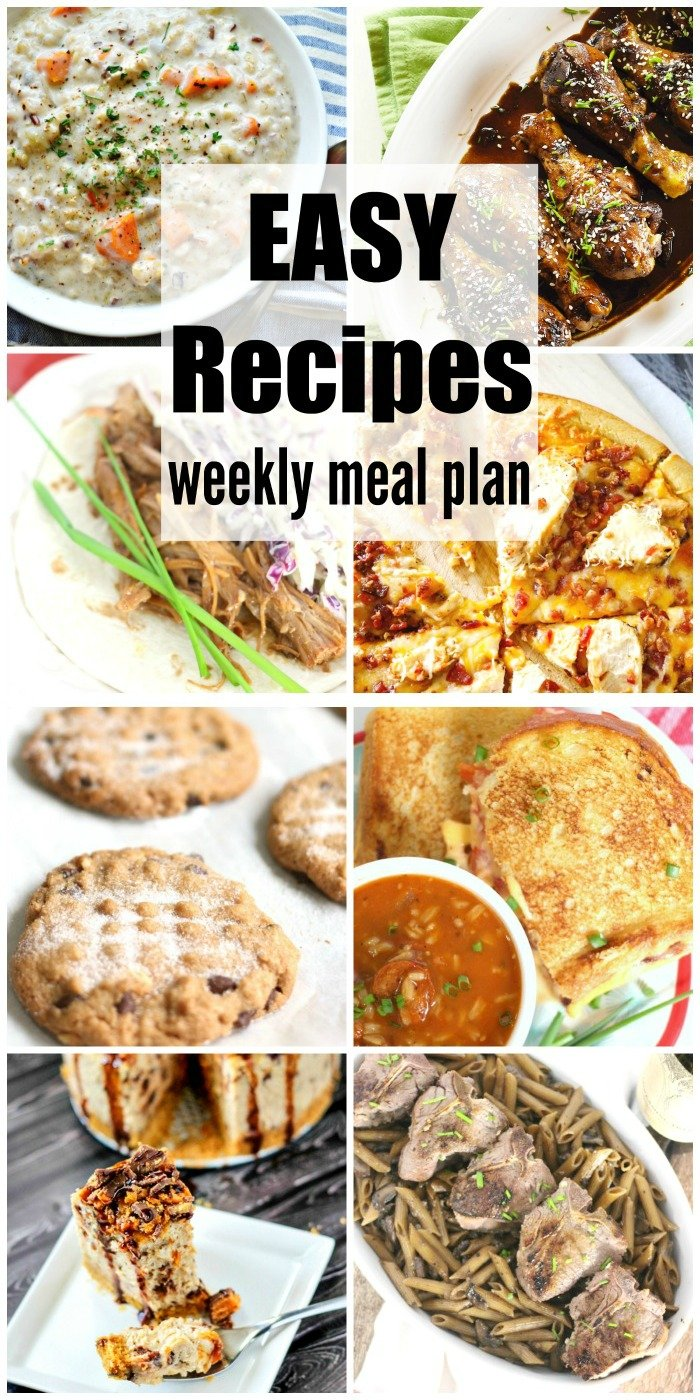 Easy Recipes Weekly Meal Plan Week 32 takes the guesswork out of meal time. Easy, budget friendly & delicious dinner recipe ideas to please your family.