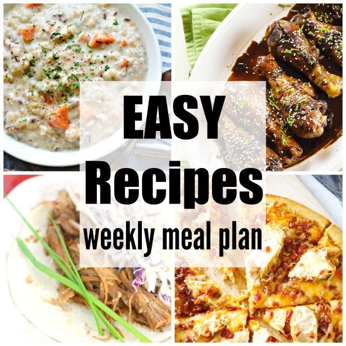 Easy Recipes Weekly Meal Plan takes the guesswork out of meal time. Easy, budget friendly & delicious dinner recipe ideas to please your family.