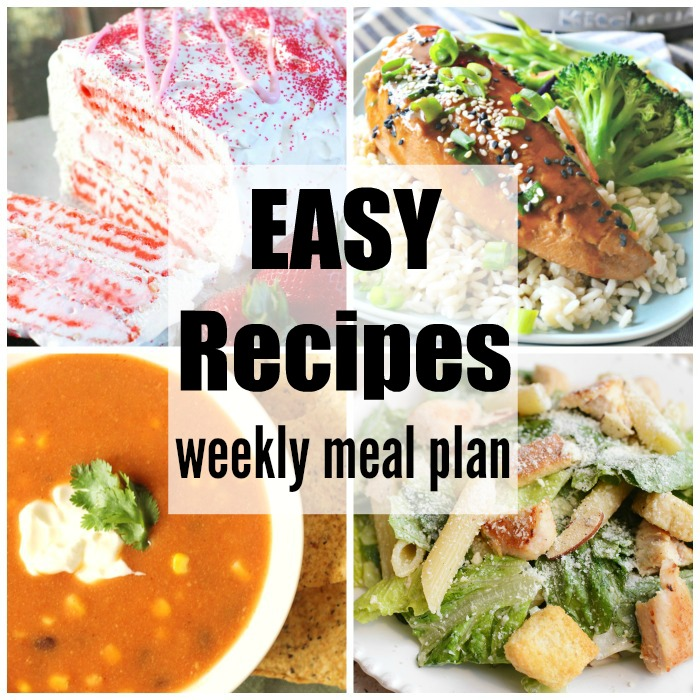 Easy Recipes Weekly Meal Plan Week 33 simplifies mealtime. Easy, budget friendly & delicious dinner recipe ideas to please your family.