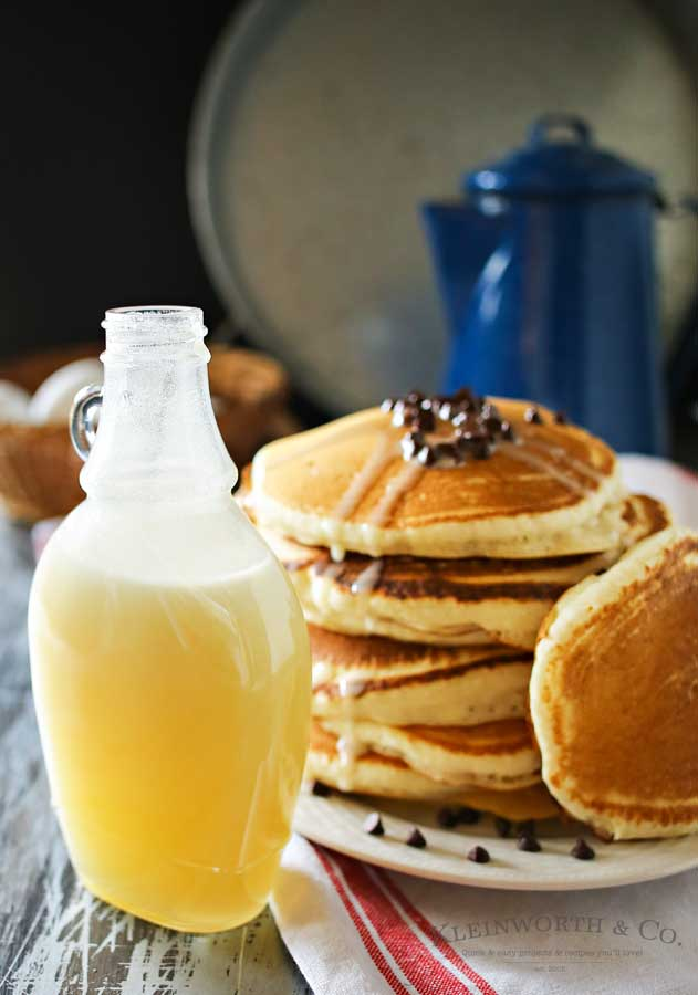 Homemade Buttermilk Syrup is a perfect topping for more than just pancakes. With 5 ingredients & a few minutes you can create this favorite classic recipe. I love to add it to ice cream or even in my morning coffee to add depth & richness. You don't need to buy the bottled, store version anymore. This is so much better! Try some this weekend!