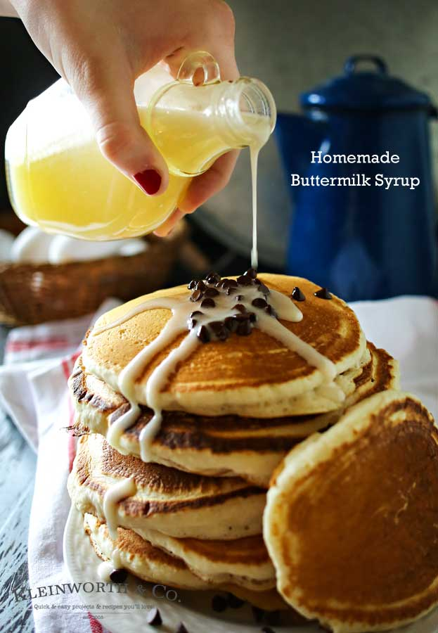 Homemade Buttermilk Syrup is a perfect topping for more than just pancakes. With 5 ingredients & a few minutes you can create this favorite classic recipe. I love to add it to ice cream or even in my morning coffee to add depth & richness. You don't need to buy the prepackaged version anymore. This is so much better! Try some this weekend!
