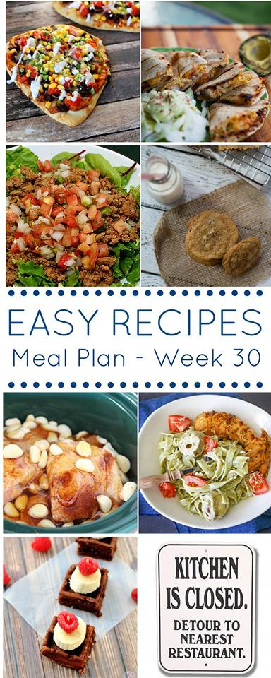 Easy Dinner Recipes Meal Plan 30 is here to take the guess work out of meal planning. With all the chaos that comes around dinner prep, these easy dinner recipes are tried, tested & perfected by all these phenomenal bloggers for you.