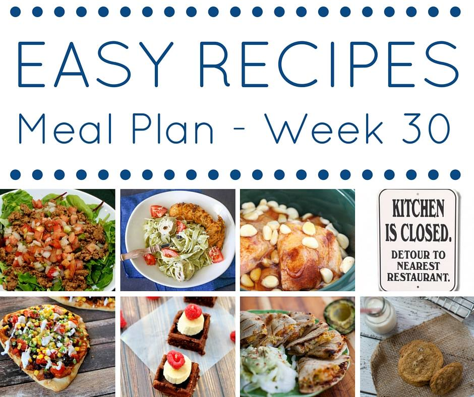 Easy menu planning recipes