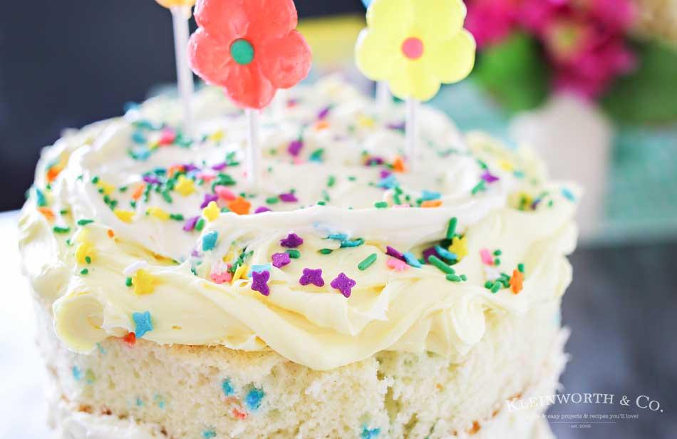 Spring Funfetti Cake Kleinworth Co