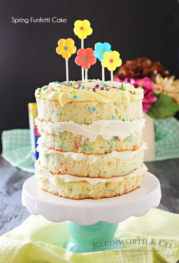 Spring Funfetti® Cake - Kleinworth & Co