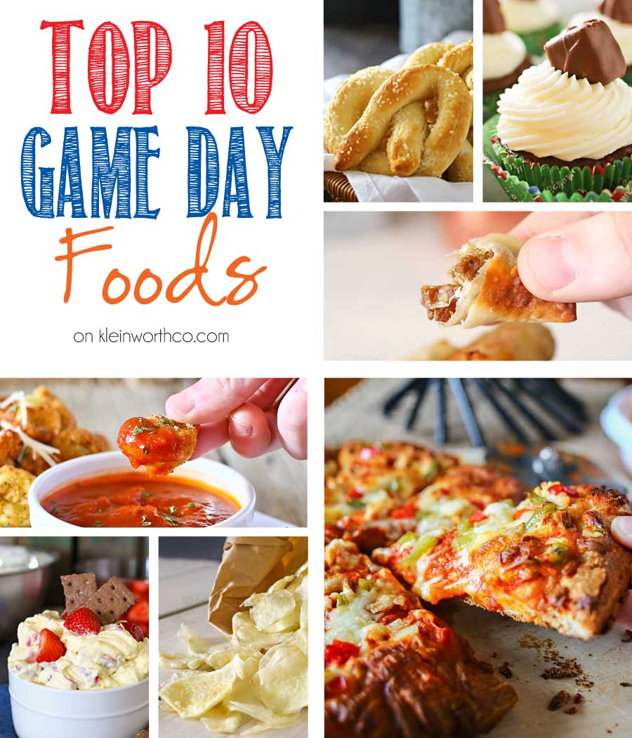 When it comes to game day food is always on everyone's mind. I've gathered the Top 10 Game Day Foods to get you ready for the big day & wow your crowd. Check out that Pizza- YUM!