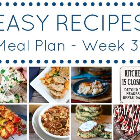 Easy Dinner Recipes Meal Plan Week 31