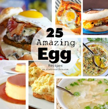 Egg recipes don't have to be boring. Think outside scrambled & try one of these 25 Amazing Egg Recipes that will rock your world! Definitely way beyond breakfast, these really kick it up & make your eggs INCREDIBLE! Perfect for dinner too as your main dish! You don't want to miss these!