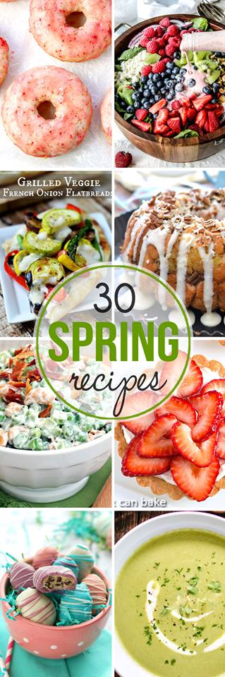 30 Amazing Spring Recipes has everything you could ever want. Cookies, cheesecake, truffles, cake & more. Perfect for Easter celebrations too! I know I will be making these even through summer. YUM-O!