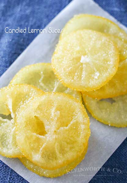 Beautiful Candied Lemon Slices
