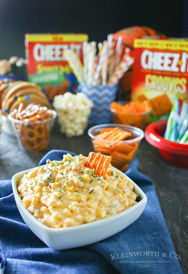 If you love great snacks to enjoy on game day, then you will swoon over this zesty Cheesy Corn Dip. Just a handful of ingredients & a crockpot is all you need to make this dip that had my family begging for more. It's really THE ABSOLUTE game day favorite! A must make during college basketball games.