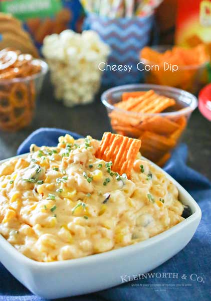 If you love great snacks to enjoy on game day, then you will swoon over this zesty Cheesy Corn Dip. Just a handful of ingredients & a crockpot is all you need to make this dip that had my family begging for more. It's really THE ABSOLUTE game day favorite! A must make during March Madness.