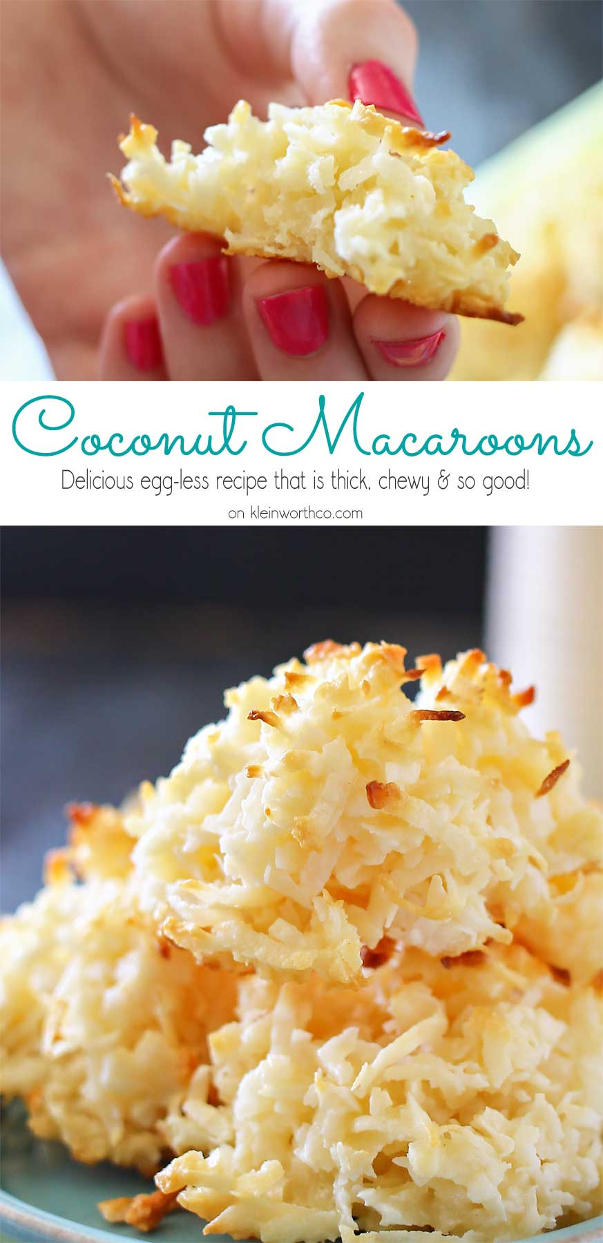 Coconut Macaroons- perfect spring treat.