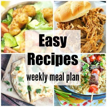 Easy Recipes Weekly Meal Plan Week 35
