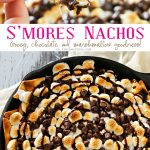"""If you love a traditional s'mores recipe, the you will fall in love with S'mores Nachos. Incredibly easy dessert recipe that makes you swoon! Cinnamon pita chips, chocolate, toasted marshmallows...does it really get any better than that? Honestly, when you see how easy these are to make- it will be your """"go-to"""" dessert, no campfire needed!"""