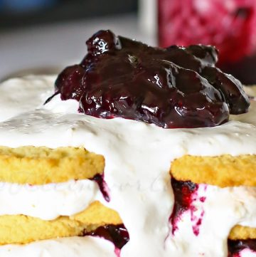 Blueberry Ice Box Cake