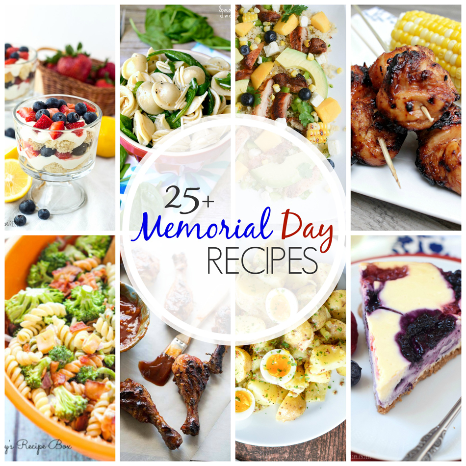 25 Memorial Day Recipes will have your menu set for the holiday. From burgers to kabobs to cheesecake & more. It's all here & ready to make you drool! So get your grill ready- these are AWESOME!
