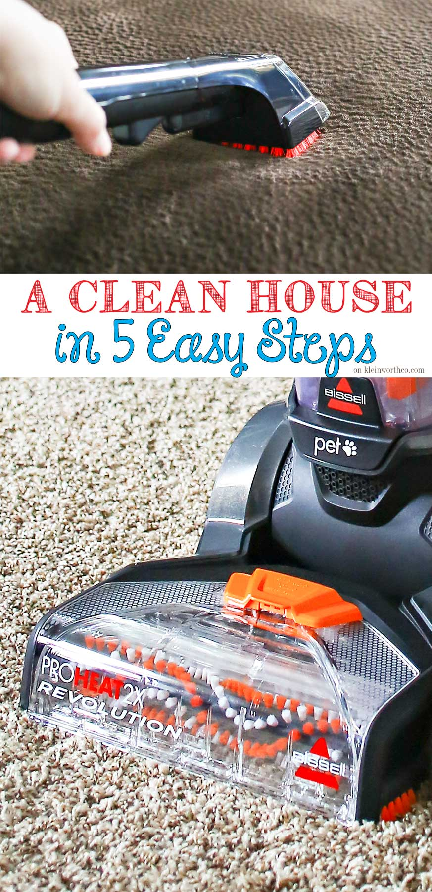 Get a Clean House in 5 Easy Steps. These are the things I do to make sure my house is sparkling clean & STAYS that way! Cleaning done quick & easy!