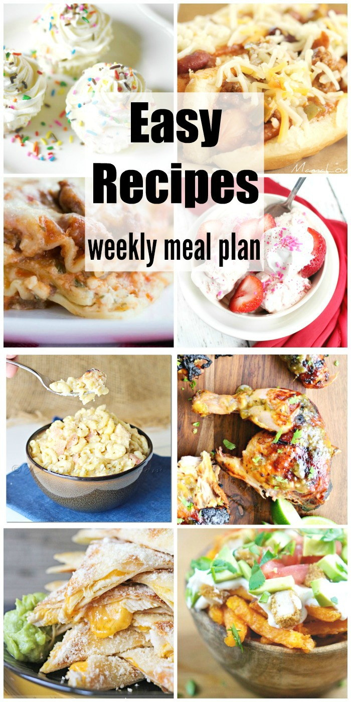 Easy Recipes Weekly Meal Plan Week 37 is definitely going to make dinners easy & quick. Forget the take-out & make these scrumptious dinner recipes that your family will rave over! Great for all those last minute dinner guests too!!