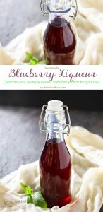 Making homemade liqueurs like this Homemade Blueberry Liqueur is a simple & easy process. The final result is a smooth, mellow flavor that's delicious & far less expensive than the store version. Plus it makes a fabulous gift!