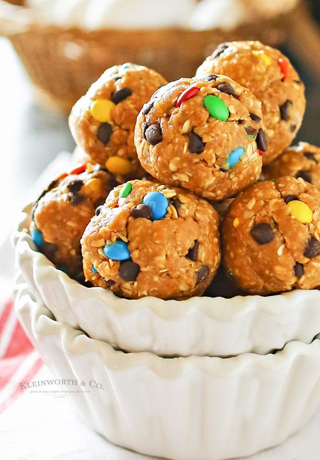 Monster Cookie Bites - no bake cookies