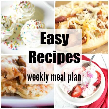 Easy Recipes Weekly Meal Plan Week 37