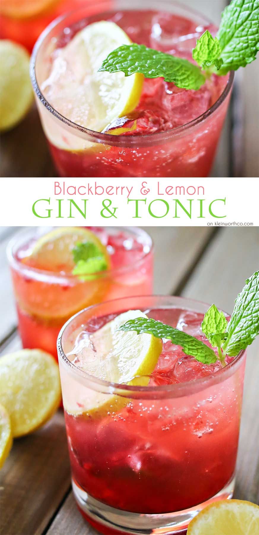 Blackberry Lemon Gin & Tonic is one of our favorite mixed drinks. It'...