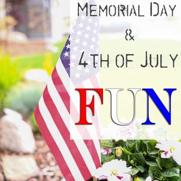 Memorial Day & 4th of July Fun can be easy with this great list of must have items to make all your celebrations patriotic to help you celebrate!