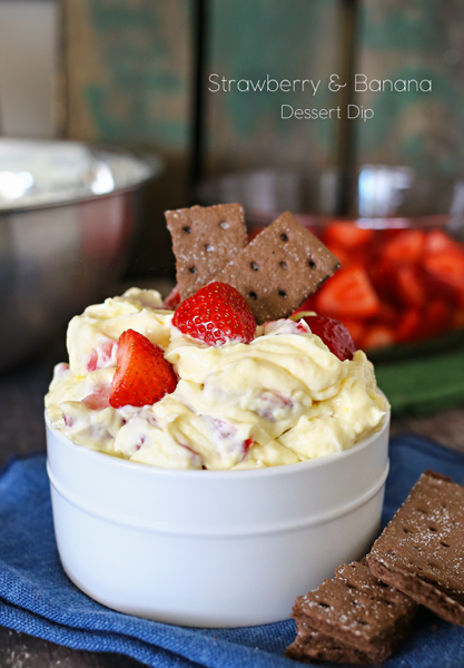 Strawberry Banana Dessert Dip