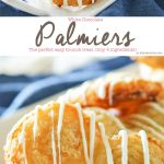 White Chocolate Palmiers are a simple cookie made with puff pastry. Ready in as little as 30 minutes, they make a great addition to summer brunch.