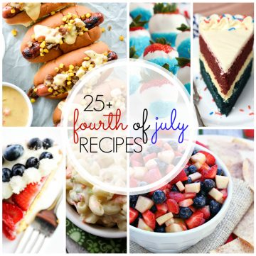 Looking for the best 4th of July food around? These 25+ 4th of July Recipes will certainly help you prepare for all your holiday celebrations.