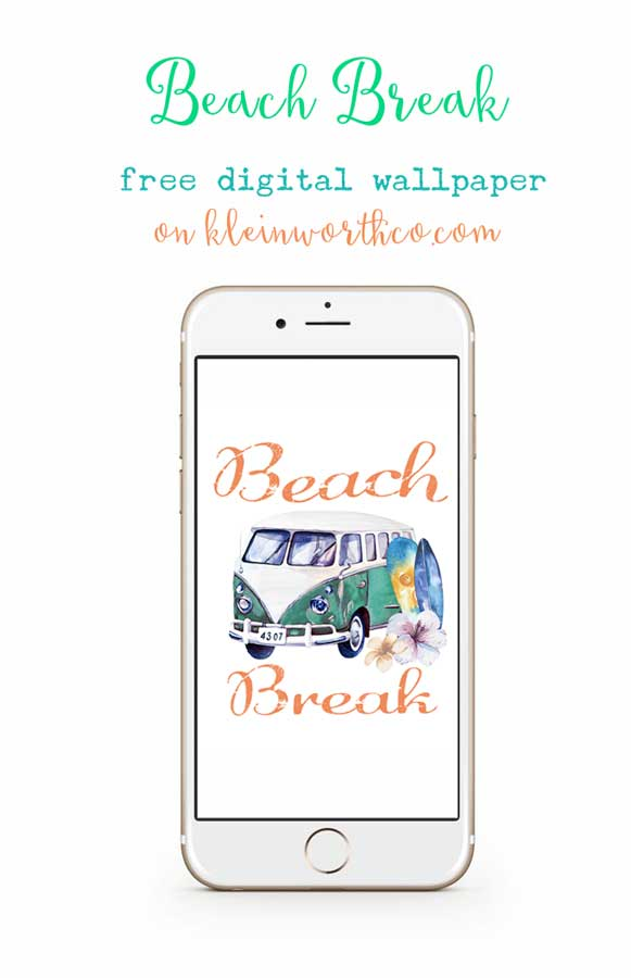 Beach Break Digital Wallpaper is a great way to bring summer to your digital devices. FREE download for desktop backgrounds, phone wallpapers & tablets too.