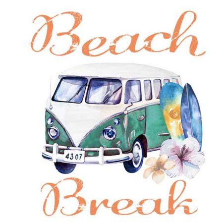 Beach Break Digital Wallpaper