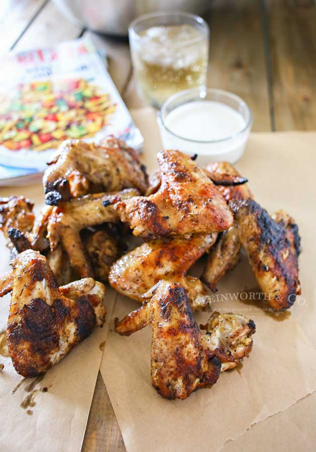 Grilled Chicken Wings- grilled wings recipe