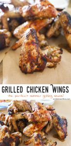 Grilled Chicken Wings are a deliciously simple grilled chicken recipe to wow your crowd at your next bbq, party or summer gathering. Seriously SO GOOD!
