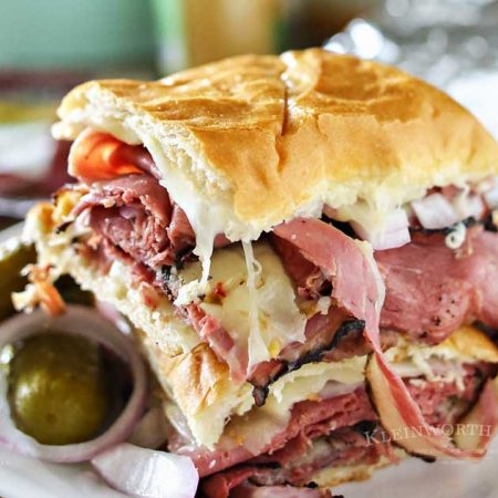 Grilled Hot Pastrami Sandwich
