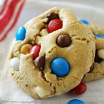 Patriotic Chocolate Chip Cookies