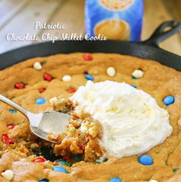 Patriotic Skillet Cookie