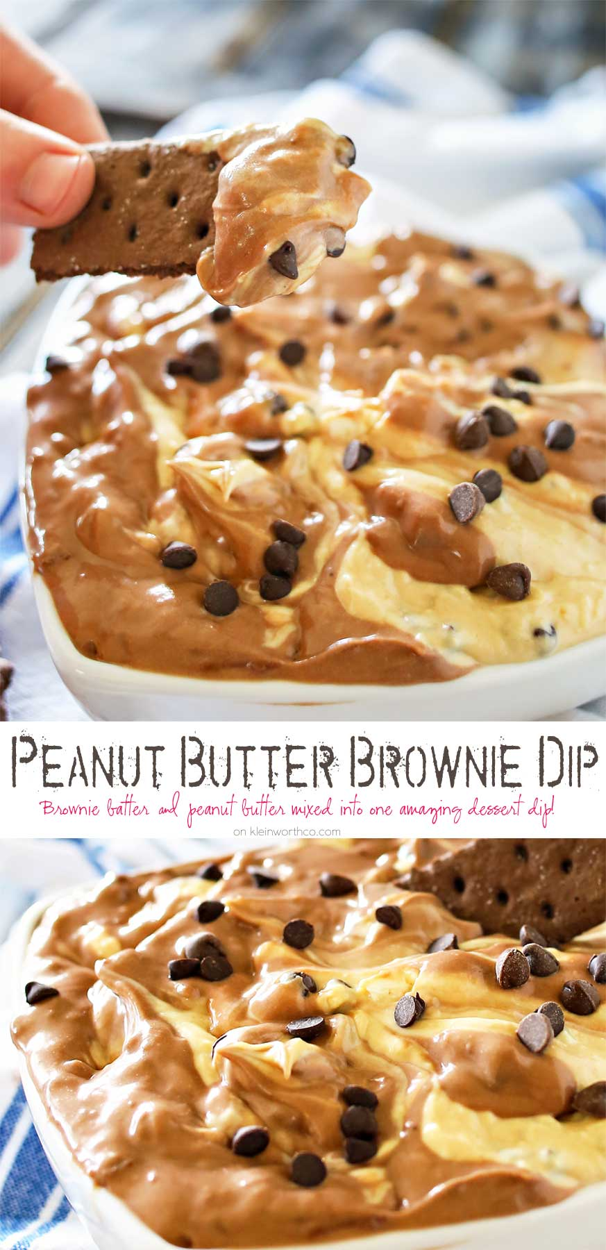 Peanut Butter Brownie Dip dessert