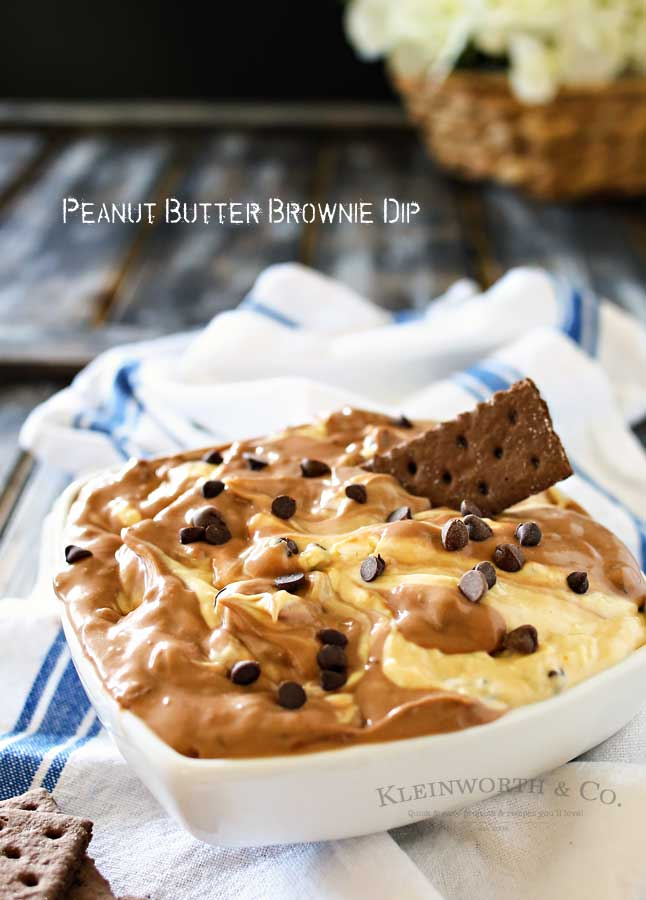Peanut Butter Brownie Dip