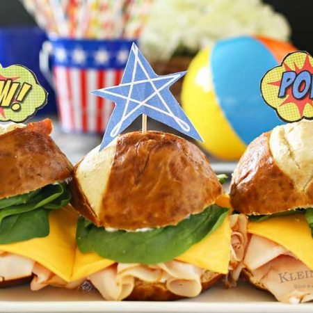 Superhero Sandwich & FREE Printable Toppers & Tattoos