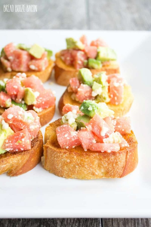 Watermelon & Avocado Bruschetta {White Lights on Wednesday}