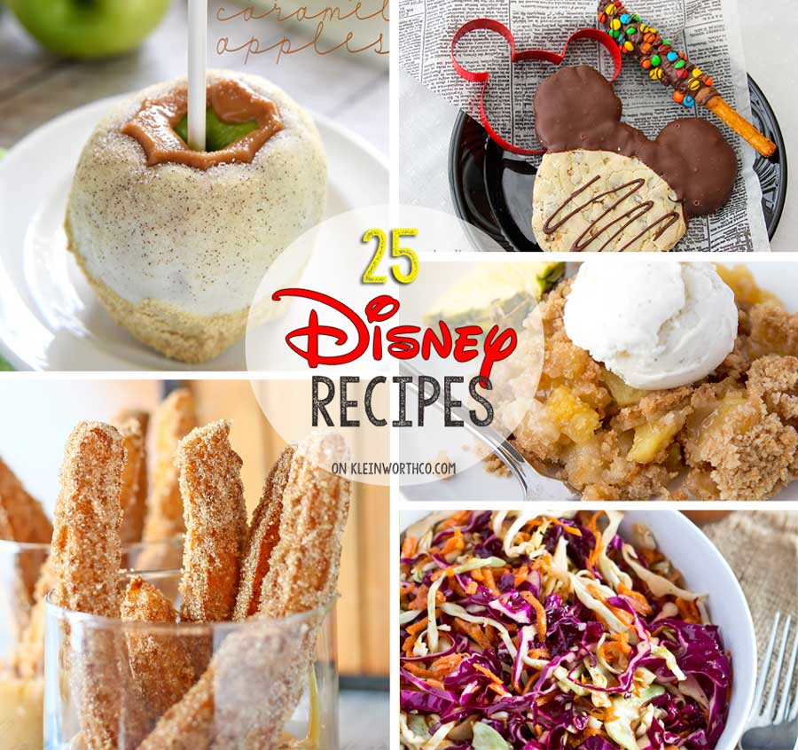 25 Disney Inspired Recipes from all your favorite places in the park.
