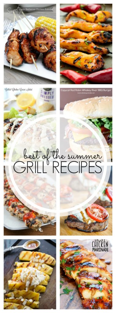 It's time to get your summer party on with these Best Summer Grill Recipes to feed the masses. Everything you need for your backyard bbq!