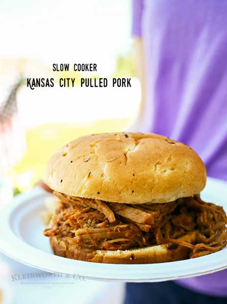 Kansas City Pulled Pork is an easy slow cooker recipe that's perfect for summer.