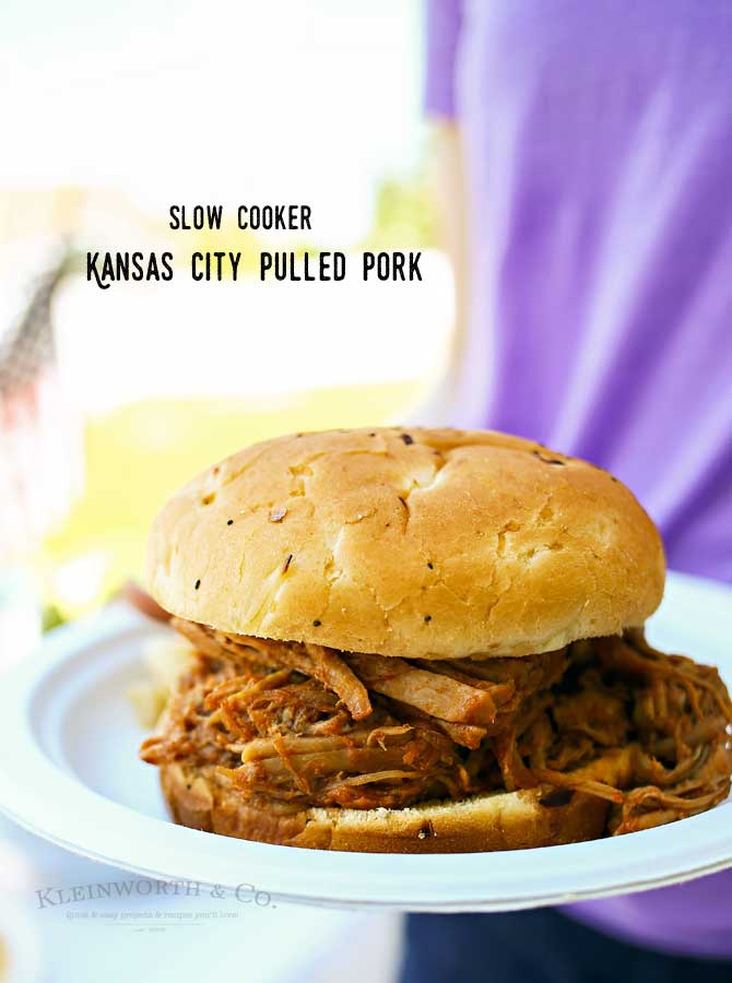 Kansas City Pulled Pork- Almost effortless, it's an easy family dinner idea that you'll love.